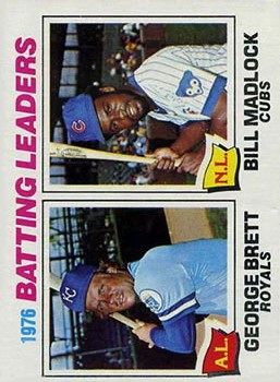 1977 Topps #1 Batting Leaders/George Brett/Bill Madlock