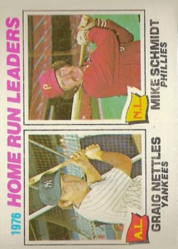 1977 Topps #2 Home Run Leaders/Graig Nettles/Mike Schmidt