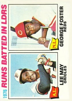 1977 Topps #3 RBI Leaders/Lee May/George Foster