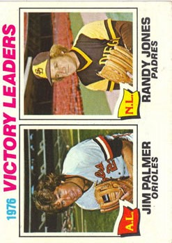 1977 Topps #5 Victory Leaders/Jim Palmer/Randy Jones