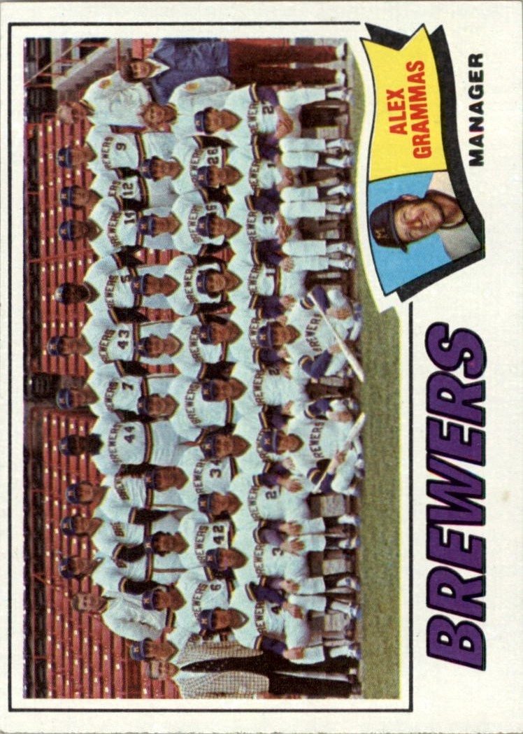 1977 Topps #51 Milwaukee Brewers CL/Alex Grammas MG