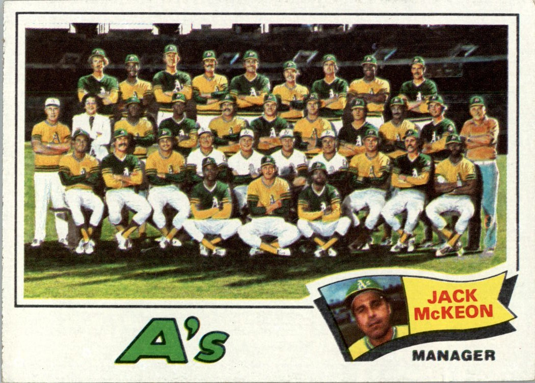 1977 Topps #74 Oakland Athletics CL/Jack McKeon MG