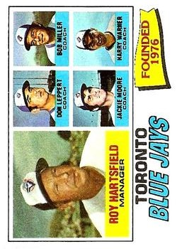 1977 Topps #113 Toronto Blue Jays CL/Roy Hartsfield MG/Don Leppert CO/Bob Miller CO/Jackie Moore CO/Harry Warner CO