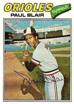 1977 Topps #313 Paul Blair