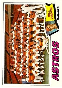 1977 Topps #327 Houston Astros CL/Bill Virdon MG