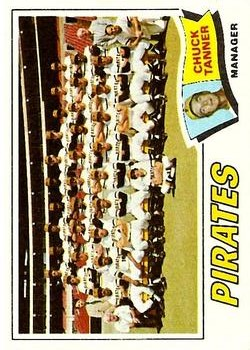 1977 Topps #354 Pittsburgh Pirates CL/Chuck Tanner MG
