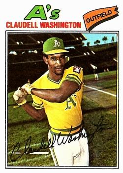 1977 Topps #405 Claudell Washington