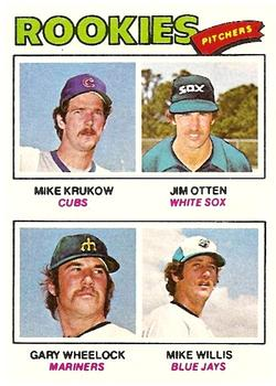1977 Topps #493 Rookie Pitchers/Mike Krukow RC/Jim Otten/Gary Wheelock RC/Mike Willis RC