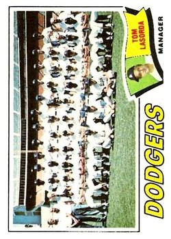 1977 Topps #504 Los Angeles Dodgers CL/Tom Lasorda MG