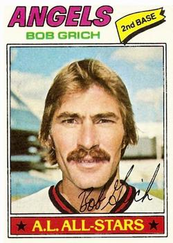 1977 Topps #521 Bob Grich/Only card in set with no date of birth