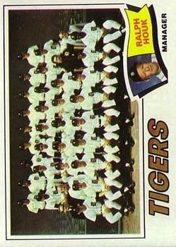 1977 Topps #621 Detroit Tigers CL/Ralph Houk MG