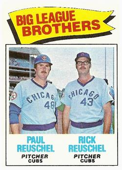 1977 Topps #634 Brothers/Paul Reuschel/Rick Reuschel UER/(Photos switched)