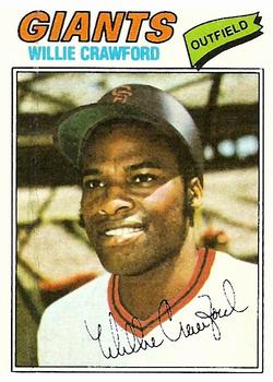 1977 Topps #642 Willie Crawford