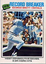 1977 O-Pee-Chee #261 George Brett RB/Most Consec. Games/Three Or More