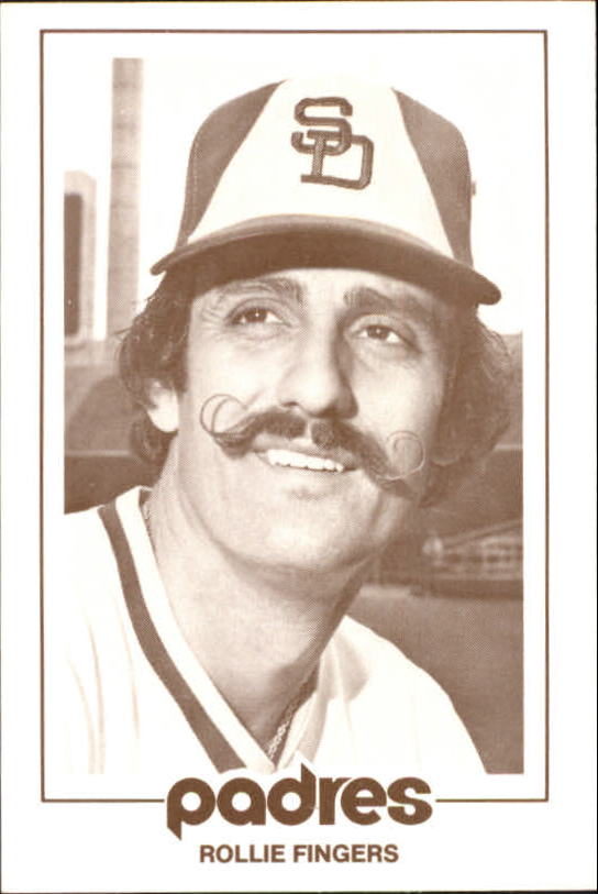 1977 Padres Schedule Cards #21B Rollie Fingers/Head shot