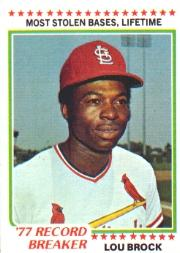 1978 Topps #1 Lou Brock RB