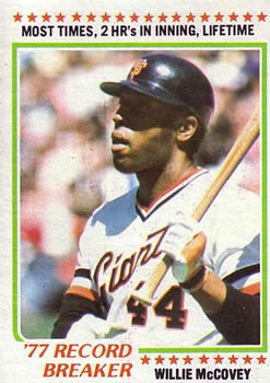 1978 Topps #3 Willie McCovey RB