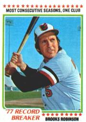 1978 Topps #4 Brooks Robinson RB front image