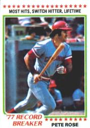 1978 Topps #5 Pete Rose RB