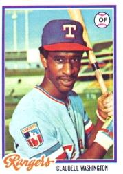 1978 Topps #67 Claudell Washington