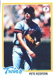 1978 Topps #81 Pete Redfern