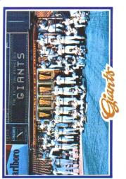 1978 Topps #82 San Francisco Giants CL