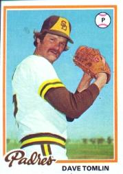 1978 Topps #86 Dave Tomlin