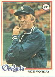 1978 Topps #145 Rick Monday