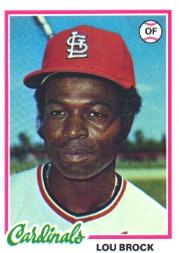 1978 Topps #170 Lou Brock