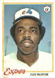 1978 Topps #185 Ellis Valentine