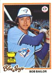 1978 Topps #196 Bob Bailor