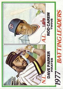 1978 Topps #201 Batting Leaders/Dave Parker/Rod Carew