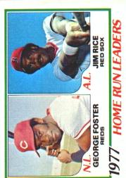 1978 Topps #202 Home Run Leaders DP/George Foster/Jim Rice