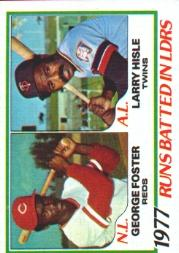 1978 Topps #203 RBI Leaders/George Foster/Larry Hisle