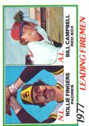 1978 Topps #208 Leading Firemen/Rollie Fingers/Bill Campbell