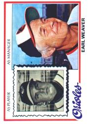 1978 Topps #211 Earl Weaver MG DP