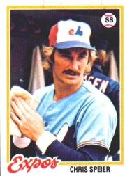 1978 Topps #221 Chris Speier