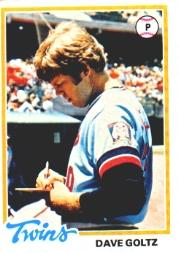 1978 Topps #249 Dave Goltz DP