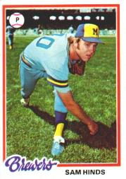 1978 Topps #303 Sam Hinds RC