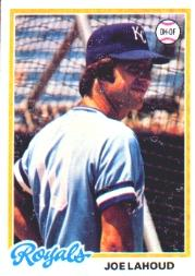 1978 Topps #382 Joe Lahoud