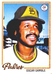 1978 Topps #390 Oscar Gamble