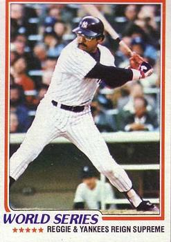 1978 Topps #413 World Series/Reggie Jackson