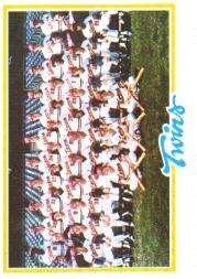 1978 Topps #451 Minnesota Twins CL