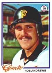 1978 Topps #461 Rob Andrews DP