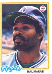 1978 Topps #465 Hal McRae