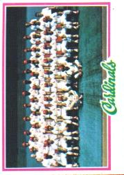 1978 Topps #479 St. Louis Cardinals CL