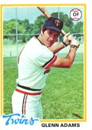 1978 Topps #497 Glenn Adams