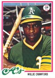 1978 Topps #507 Willie Crawford