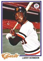 1978 Topps #512 Larry Herndon