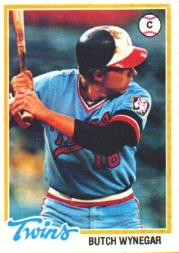 1978 Topps #555 Butch Wynegar